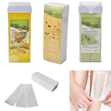 Hair Removal Depilatory Wax Kits + 100PCS Nonwoven Epilator Paper Wax Salon Spa