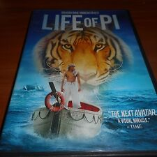 Life of Pi (DVD Widescreen 2013) Gérard Depardieu, Suraj Sharma Used