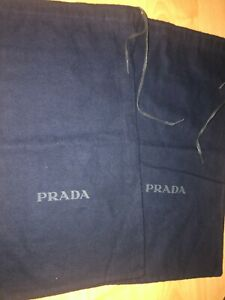 set of 2 Prada Storage Dust Bag For Wallet Shoes or ect 8.5 X 14
