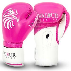 Pink Boxing Gloves for Women Ladies Girls   Kickboxing Muay Thai MMA Boxercise