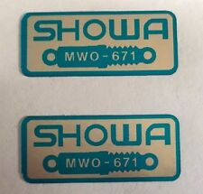HONDA CBR900RR BLADE FRONT FORK SHOWA CAUTION WARNING LABEL DECALS X 2