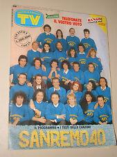 TV SORRISI CANZONI=1990/9=FESTIVAL SANREMO=LUCA CARBONI=LARA WENDEL COLLEGE FILM
