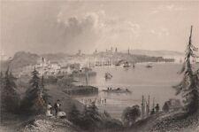 NEW BRUNSWICK. St. John and Portland (North End). Canada. BARTLETT 1842 print