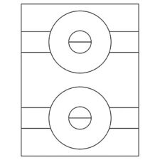 """500 Laser Inkjet CD Labels, 4.5"""" D, same size as 5824"""