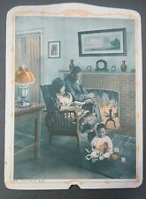Salesman's Sample Advertising Fan, African American Family, HOME, SWEET HOME