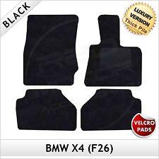 BMW X4 F26 2014 onwards Velcro Tailored LUXURY 1300g Carpet Car Floor Mats BLACK