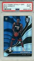 2017 Bam Adebayo rookie #114 Panini Totally Certified BLUE /99 PSA 9 MINT