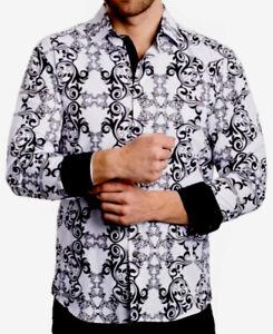 Men's Beautiful Cotton Dress Shirt,Italian Style,Modern,Slim Fit….C1.