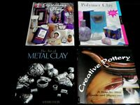 Lot of 4 Pottery, Polymer and Metal Clay Books