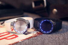 LED Digital Watches Men's Creative Touch Screen Quartz Wrist Watch Silicone Band