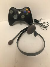 Xbox 360 Black Wireless Game Controller + Xbox360 Headset