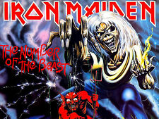"3.25"" Iron Maiden number of the beast STICKER. Eddie, the Trooper, Killers live"