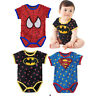 Baby Boy Infant Newborn Cotton Spiderman Batman Superman Bodysuit Romper Clothes