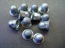 "12 pcs NOS 1/8"" thread cutting emblem name plate script acorn nuts fits Ford"