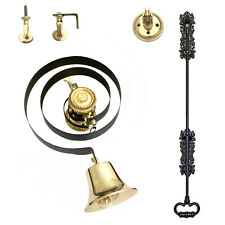 Butlers Bell Brass + BLACK IRON PULL - Full Kit   Similar to Byron 62500K