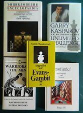 RARE CHESS HC LOT! KASPAROV/WARRIORS OF THE MIND/EVANS GAMBIT/ENCYCLOPEDIA/KEENE