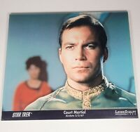 Vintage STAR TREK Court Martial William Shatner LaserSculpt Picture out of 5000
