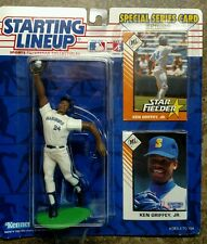1993 sealed Ken Griffey JR Starting Lineup figure 2 baseball card Free Fast Ship
