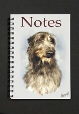 Deerhound Dog Notebook/Notepad with small image on every page By Starprint