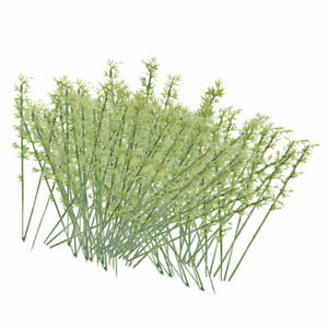 100Pcs Plastic Model Bamboo Trees Green Scale 1:75 For Scenery Layouts