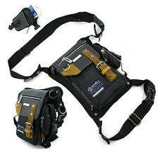 Men Oxford Leather Leg Bag Waist Fanny Tactical Fishing Motorcycle Rider Pack