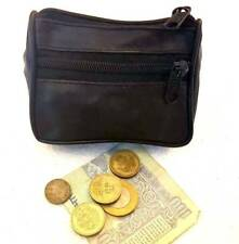 Women Men's Genuine Leather Zip Coin Purse Mini Money Wallet Purse Key Pouch @ 4