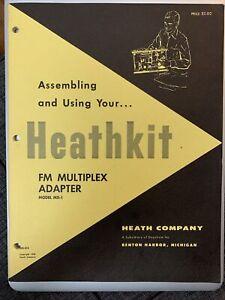 HEATHKIT Manual for FM Multiplex Adapter MX-1