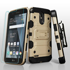 LG Stylo 3 HYBRID Shockproof Armor Rugged Hard Case Cover Clip Holster + Screen