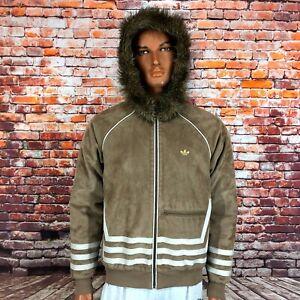 RARE Adidas Originals Greenland Materials of the World Leather Retro Jacket Sz M