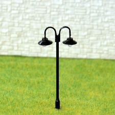 10 Stück LED Lampe Laterne Straßenlaterne Parklaterne Spur HO OO Modellbau #611