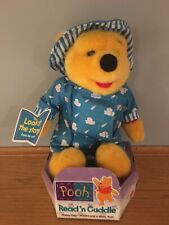 "Disney Mattel 12"" Winnie the Pooh Pooh's Colorful Rainy Day Plush New Rare."