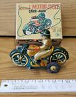 Vintage+tin+toy+wind+up+Motor-+Cycle+cable+rider+TM+Modern+toys+Japan+Working...