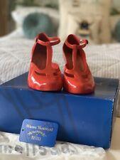 Rare Vivienne Westwood & Melissa Red T Bar Shoes Sixe 3