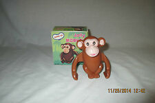 NOS Plastic Wind-Up Toy Animal~Jolly Monkey~