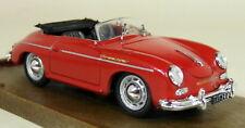 Brumm 1/43 Scale R117 Porsche 356 Roadster 1950 Red + Stripe Diecast Model Car
