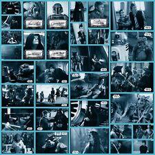 Topps Star Wars Card Trader Return of the Jedi B&W W2 Blue Base & Signature Set
