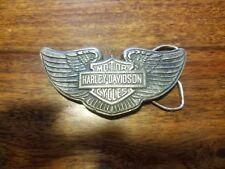 Vintage•Harley Davidson Motor Co•Belt Buckle•TM Reproduced•I-38•Pewter Color