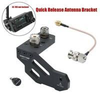 Quick Release Antenna Bracket For ICOM IC-705 Portable Shortwave Radio - Black