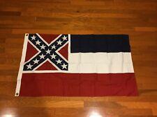 Антикварная Mississippi все сшитые на заказ, 100% хлопок, 1990 Ruffin флаги Usa Miss MS US