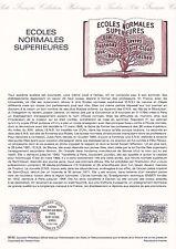 Document Philatélique Timbre 1er Jour : 16/10/ 1982 - Ecoles Normales Sup.