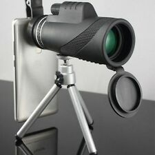 40x zoom óptico Monocular Telescopio óptica para teléfono móvil cámara + Trípode