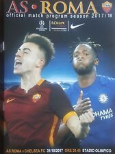 2017 AS ROMA v CHELSEA CHAMPIONS LEAGUE PROGRAMME FROM GROUND