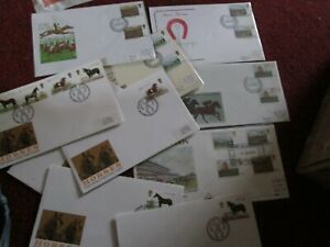 lot of Epsom racing & Horses First Day Covers 6.06.1979 Derby day & Racing book