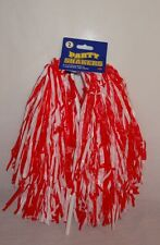 New Beistle Football Cheerleader Party Shaker Pom Pom 2pc Red White