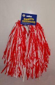 New Beistle Football Cheerleader Party Shaker Pom Pom 2pc Red White