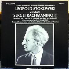 LEOPOLD STOKOWSKI rachmaninoff symphony no. 3 LP Mint- LSSA-228 Discocorp Record