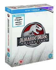 "JURASSIC PARK COMPLETE COLLECTION BOX SET 4 DISCS BLU-RAY RB AUS ""NEW&SEALED"""