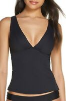 Becca Etc. Fine Line Tankini Top Black Size M Medium