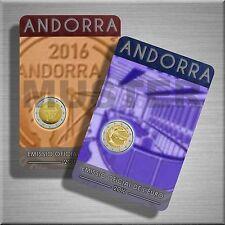 "2 x 2 EURO MONETA COMMEMORATIVA Andorra 2016 BU ""riforma"" e ""RADIO"" - Coincard-VvK"