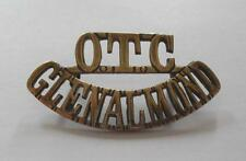 BRITISH ARMY GLENALMOND COLLEGE OFFICERS TRAINING CORPS SHOULDER TITLE ( METAL )